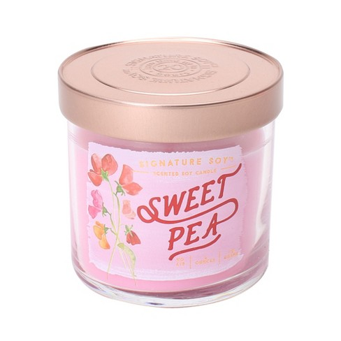 4oz Lidded Glass Jar Candle Sweet Pea - Signature Soy - image 1 of 1