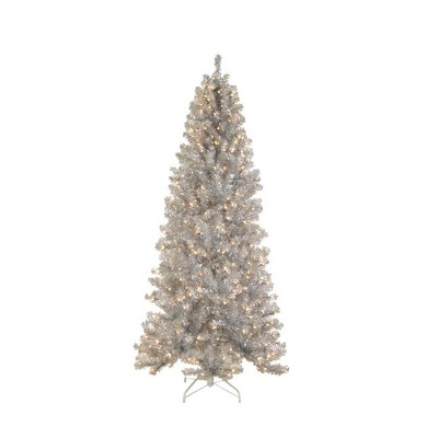 Allstate Floral 7.5' Prelit Artificial Christmas Tree Noble Pine- Clear Lights
