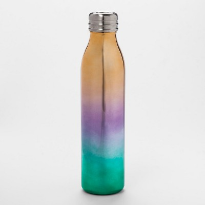 20oz Venti Air Transfer Stainless Steel Portable Water Bottle Pink/Green/Red Ombre - Room Essentials™