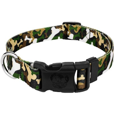 Country Brook Petz® Deluxe Woodland Bone Camo Dog Collar - Made in The U.S.A.