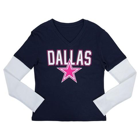051f2fb5 Dallas Cowboys Girls Long Sleeve Layered T-Shirt XS : Target