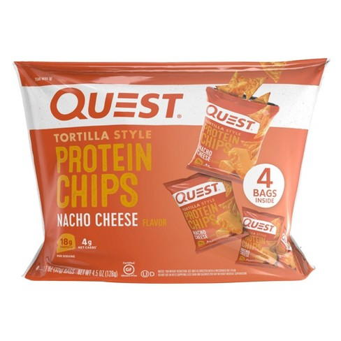Quest Tortilla Style Protein Chips - Nacho Cheese - 4ct/4.5oz - image 1 of 4