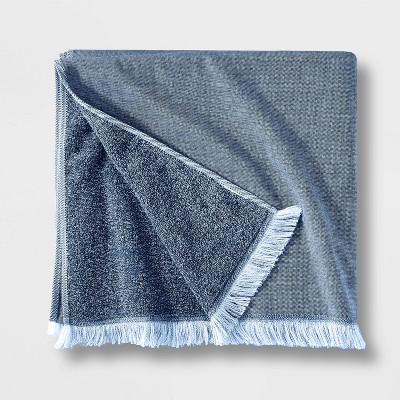 Flat Weave Bath Towel Blue - Casaluna™