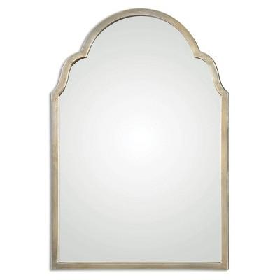 Rectangle Brayden Petite Arch Decorative Wall Mirror Silver - Uttermost