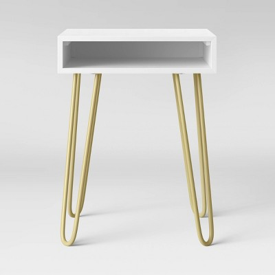 Hair Pin Accent Table White - Room Essentials™