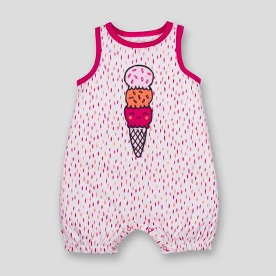 Lamaze Baby Girls' Organic Cotton Ice Cream Print Romper - Pink 6M