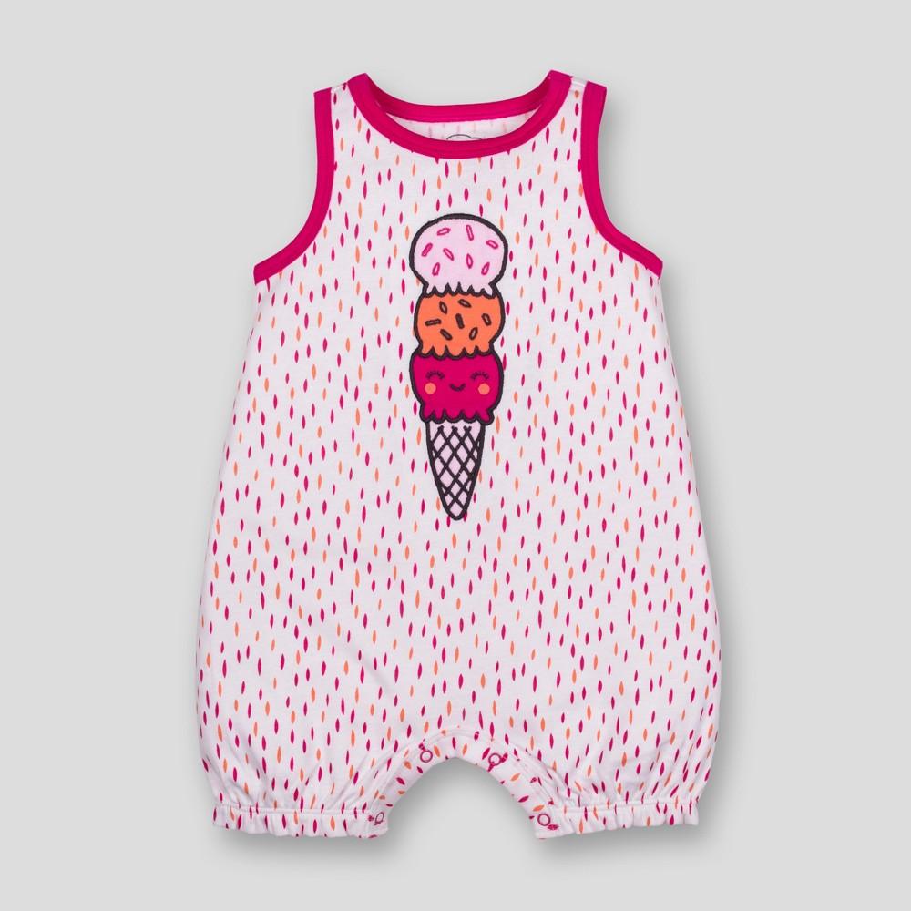 Lamaze Baby Girls' Organic Cotton Ice Cream Print Romper - Pink 9M
