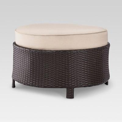 Harrison Wicker Sectional Patio Ottoman - Threshold™