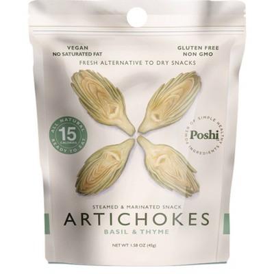 Poshi Gluten Free and Vegan Freshly Marinated Artichokes with Basil & Thyme - 1.58oz