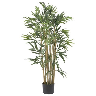 "36"" Artificial Bambusa Bamboo Tree in Pot Black - Nearly Natural"