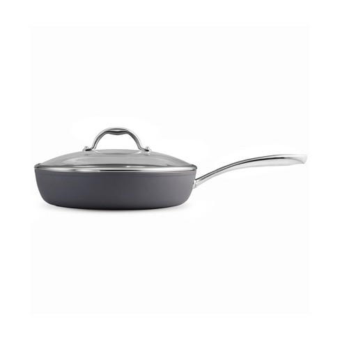 Tramontina Gourmet 4.5qt Nonstick Aluminum Deep Saute Pan with Lid Gray - image 1 of 3