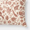 Floral Printed Throw Pillow Rust/Cream - Threshold™ designed with Studio McGee - image 3 of 4