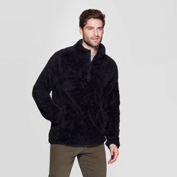 Men's Standard Fit Sherpa Sweatshirt (X Small - Big & Tall 5X) - Goodfellow & Co™