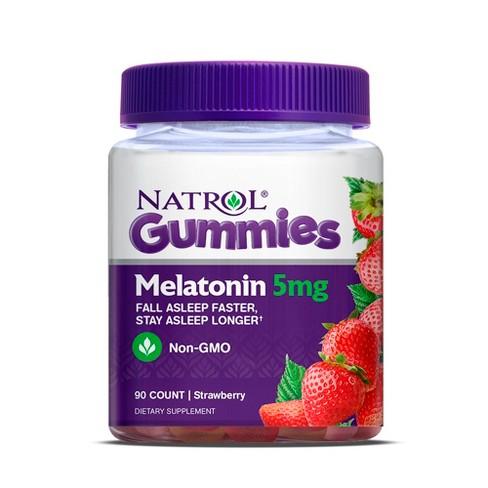natrol melatonin 5mg sleep aid gummies strawberry 90ct target