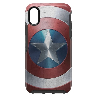 OtterBox Apple iPhone X/XS Marvel Symmetry Clear Case - Captain America