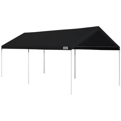 Caravan Canopy Domain 10 x 20 Foot Straight Leg Instant Canopy Tent Set, Black