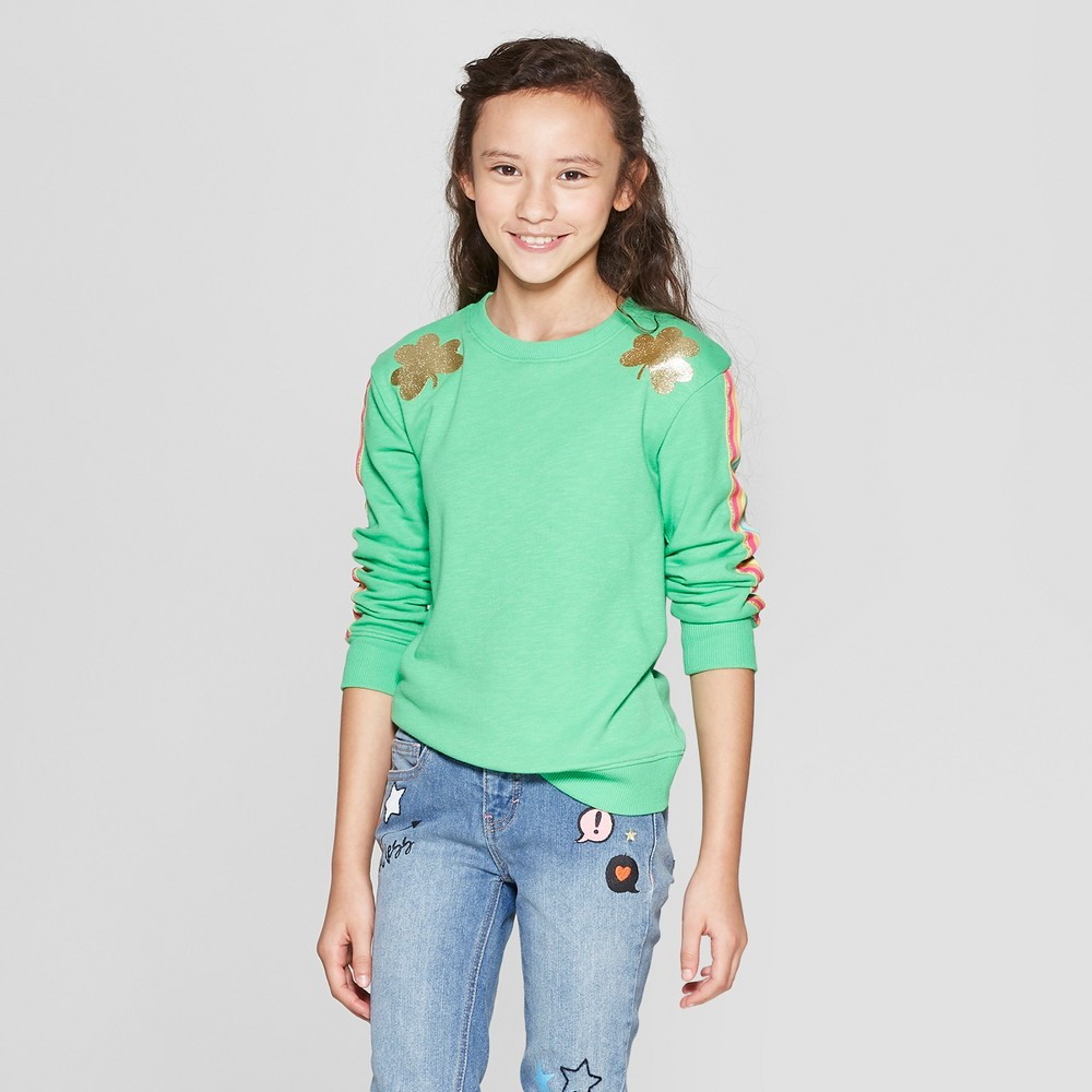 Girls' St. Patrick's Day Pullover - Cat & Jack Green S