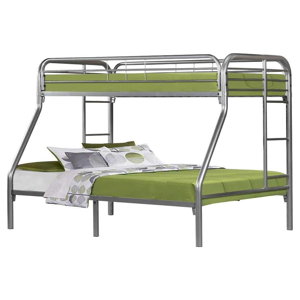 Metal Bunkbed Kids Bed Frame - Twin/Full - Silver - EveryRoom