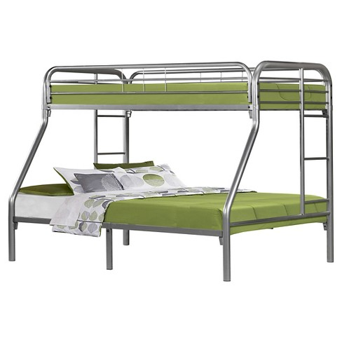 Metal Bunkbed Kids Bed Frame - Twin/Full - Silver - EveryRoom - image 1 of 2