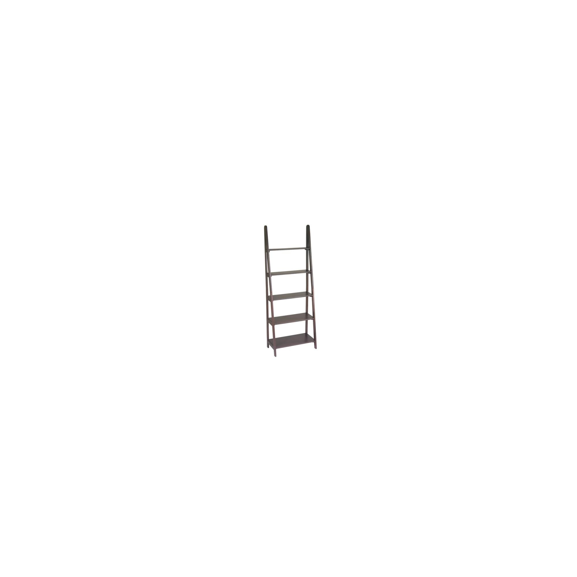 '73'' 5 Shelf Ladder Bookcase Espresso - OSP Home Furnishings'