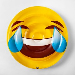 Laughing Emoji Pool Float Yellow - Sun Squad™