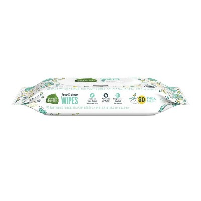 Seventh Generation Free & Clear Baby Wipes with Flip-Top Dispenser - 30ct