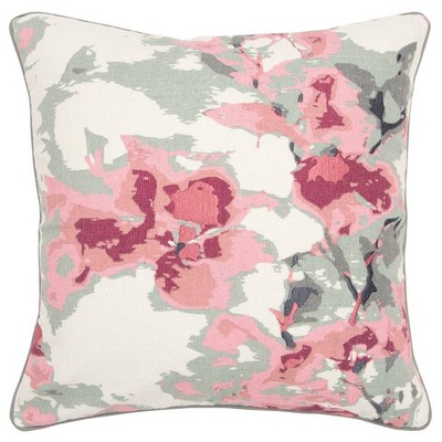 Connie Post Solid Poly Filled Square Pillow Pink - Rizzy Home