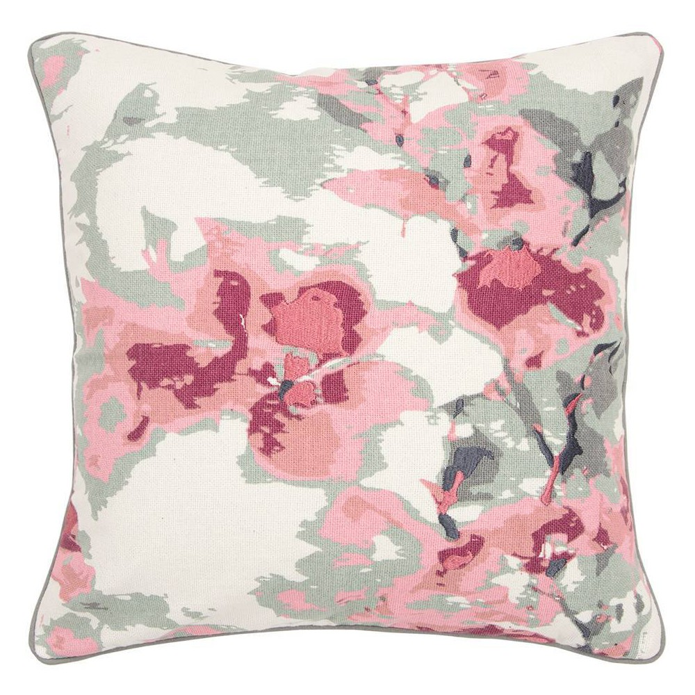 Image of Connie Post Solid Poly Filled Square Pillow Pink - Rizzy Home