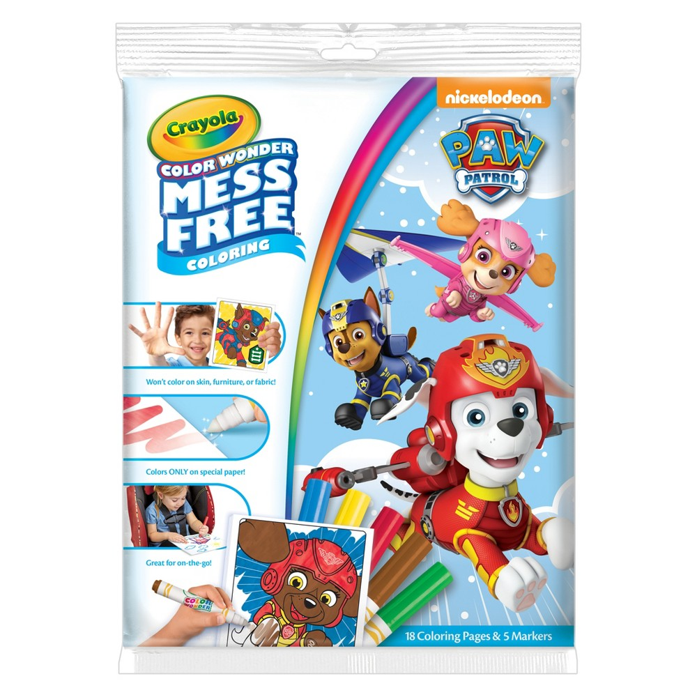 Crayola Color Wonder Coloring Kit - Paw Patrol, Multi-Colored