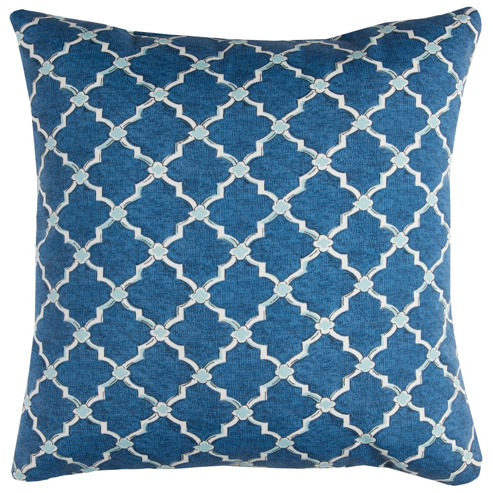Image of Rizzy Home Eaton Throw Pillow Blue