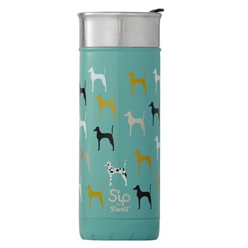 S'ip by S'well 16oz Vacuum Insulated Stainless Steel Portable Travel Beverage Mug - Ruff Day Aqua - image 1 of 4