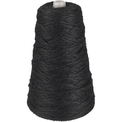 Trait Tex Acrylic 4-Ply Double-Weight Yarn Refill Cone, 315 yd Dispenser Box, Black, 8 oz Cone