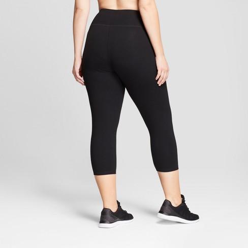 5bed37791ab Women s Plus Size Cotton Span Mid-Rise Capri...   Target