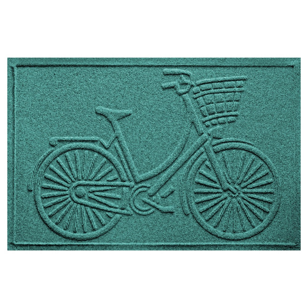Aquamarine Solid Pressed Doormat - (2'X3') - Bungalow Flooring