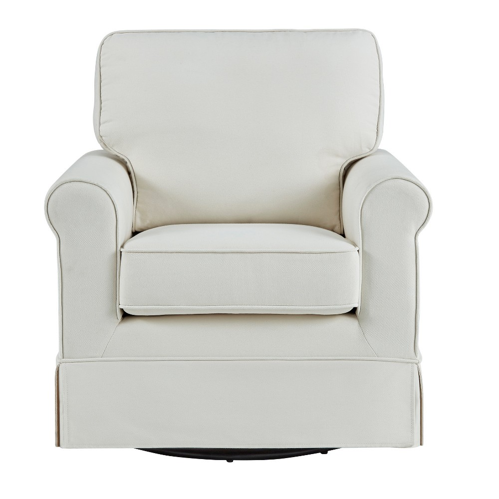 Burian Swivel Rocking Arm Chair Off-White (Beige) - Inspire Q