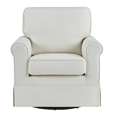 Beautiful Burian Swivel Rocking Arm Chair Off White   Inspire Q®