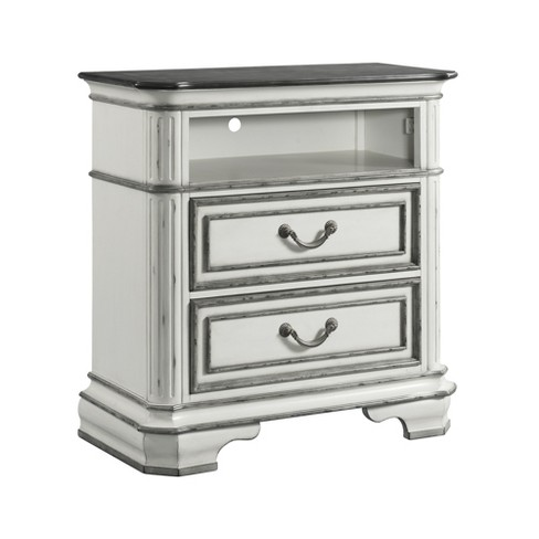 Caroline 2 Drawer Media Chest with Media Compartment White - Picket House Furnishings - image 1 of 4