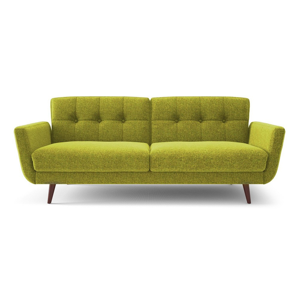 Nancy Tufted Back Flared Arm Sofa - Green - Aeon