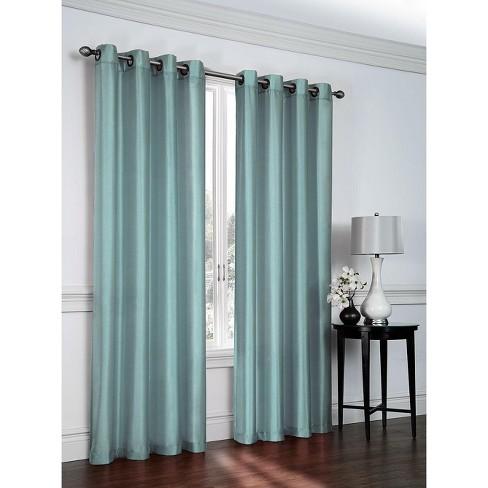 Goodgram 2 Pack Victoria Classics Faux Silk 84 In L Grommet Curtains 52 In W X 84 In L Aqua Target