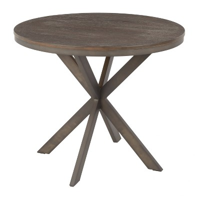 X Pedestal Industrial Dinette Table - LumiSource