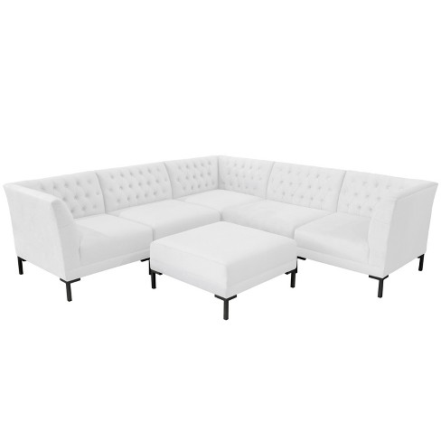 6pc Audrey Diamond Tufted Sectional
