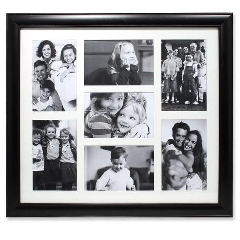 4 X6 Seven Photo Matted Black Collage Frame Lawrence Frames Target