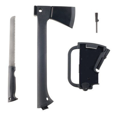 Wakeman Outdoors Multi-Function Camping Axe w/ Saw & Firestarter - 4pc