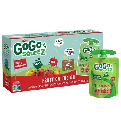 GoGo squeeZ Applesauce, Apple Strawberry - 3.2oz/12ct