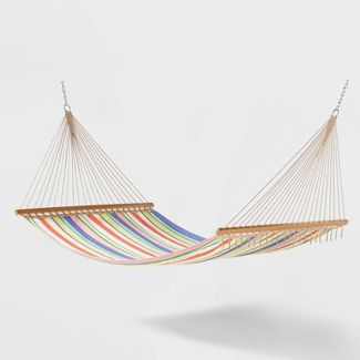 Flat Weave Outdoor Patio Hammock-  Summer Stripe - Threshold™