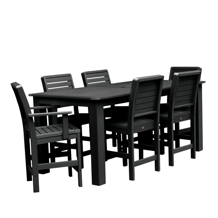 Weatherly 7pc Rectangular Counter Height Dining Set 84X42 - Highwood - image 1 of 6