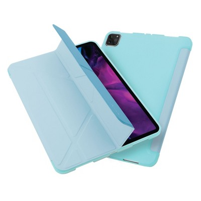 """Insten - Tablet Case for iPad Pro 12.9"""" 2020, Multifold Stand, Magnetic Cover Auto Sleep/Wake, Pencil Charging, Sky Blue"""