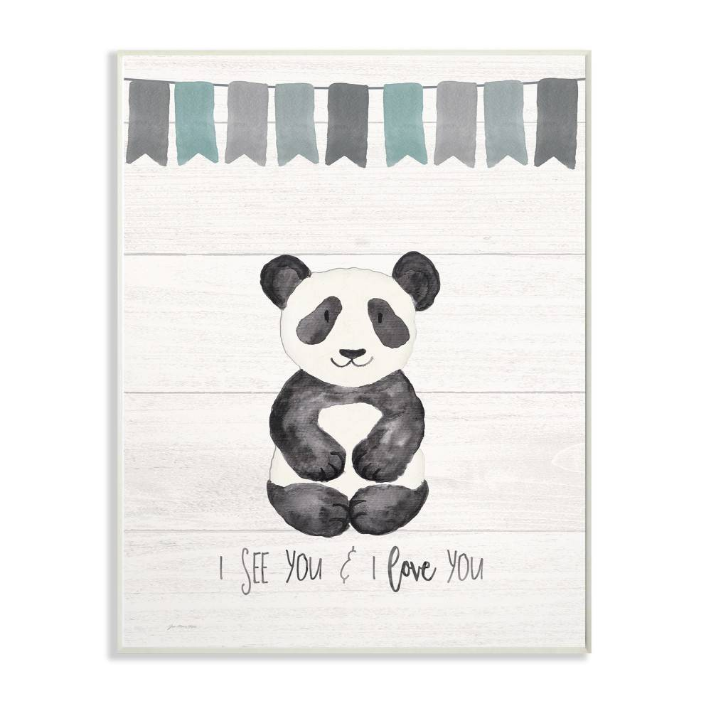 """Image of """"10""""""""x0.5""""""""x15"""""""" I See You Panda Wall Plaque Art - Stupell Industries"""""""