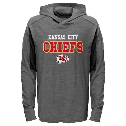 99ba0588fc Kansas City Chiefs Boys  Sideline Speed Gray Lightweight Hoodie XS ...