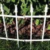 Sunnydaze Outdoor Lawn and Garden Metal Roman Style Decorative Border Fence Panel Set - 9' - White - 5pk - image 2 of 4